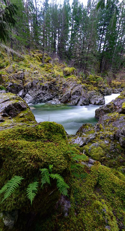 Koksilar River rapids pano